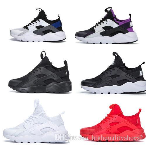 Nike Air Huarache 1 2 3 4 I II III IV أحذية رجالية نسائية أحذية الجري الأسود والأحمر الأبيض الرياضة المدرب وسادة السطح تنفس الأحذية الرياضية 36-45