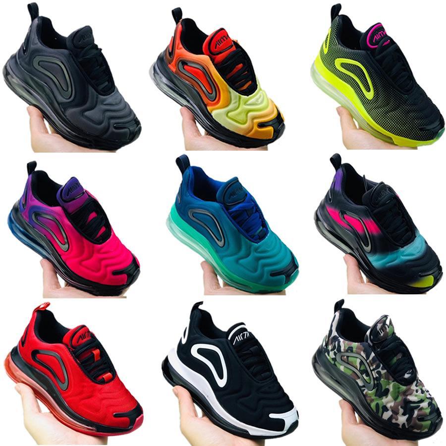 2020 Bebek Çocuk Boy Kız SUNRISE Metalik Platin Northern Lights Pembe Deniz Ayakkabı Boyutu 28-35 için Ayakkabı Gençlik Çocuk Spor Ayakkabı Koşu