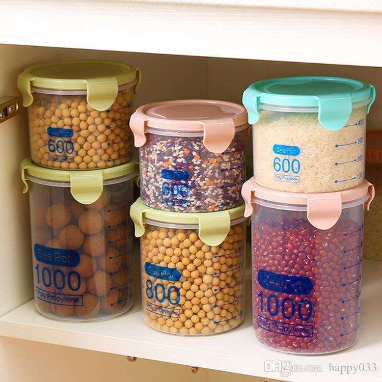 2019 Wholesale Food Storage Containers Plastic Food Storage Containers  Kitchen Canister Coffee Tea Container Food Storage #220 From Happy033,  $6.68 | ...
