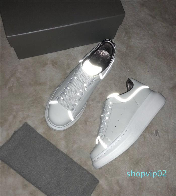 Designer- Noctilucence küçük beyaz ayakkabılar Erkekler açık hava eğlence seyahat spor ayakkabısı