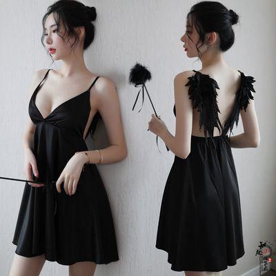 Neue sexy Wäsche-Dame Angel Wings Sexy Strap Nachthemd Set Backless Seduction Pyjamas Wholesale freies Verschiffen