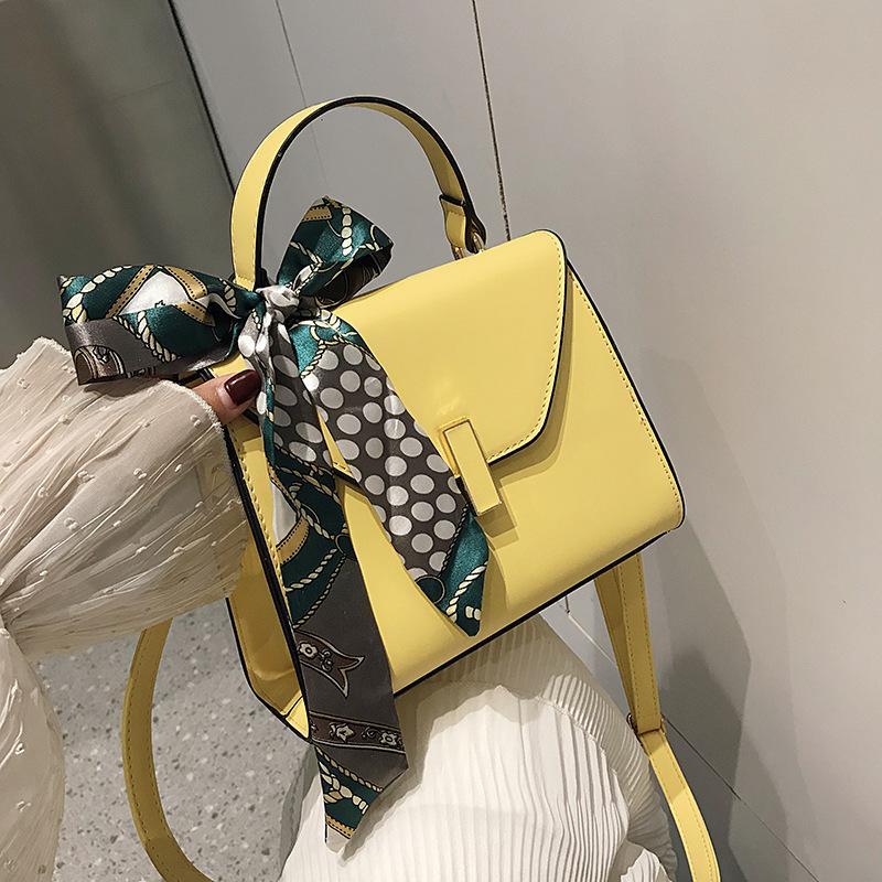 Femmes Bags2020 nouvelle mode écharpe arc en forme de sac à main unique épaule Messenger