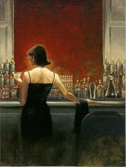 Brent Lynch Evening Lounge High Quality Hand Painted /HD Print Portrait Wall Art Oil painting on canvas Mulit sizes Options