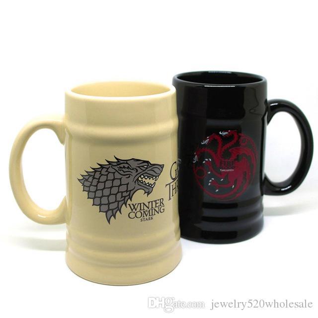 Ceramic coffee mugs Cartoon tea cups and mugs cool mark large capacity drinkware