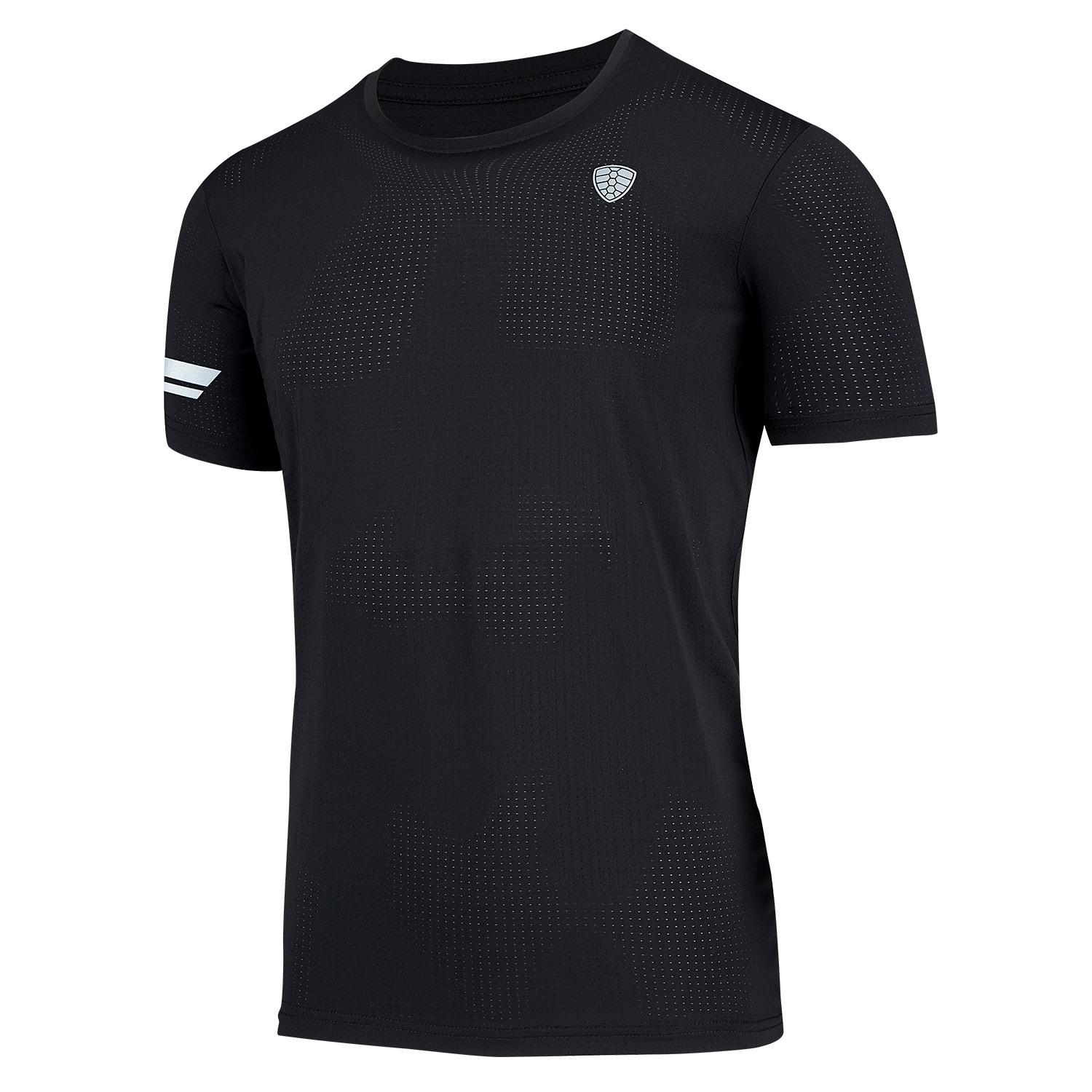 Best Selling Running Black T Shirt Men Gym T-shirt Breathable Dry Fit Sport New Quick Dry Basketball Soccer Fitness Workout Brand Tee