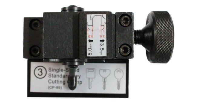SN-CP-JJ-03 Single Sided Standard Key Clamps Jaws Adaptor For SEC E9 Key Cutting Machine (House Key Cutting)