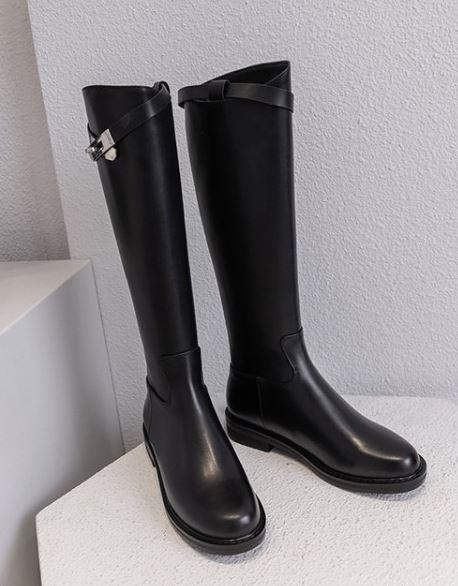 Genuine Leather Women Boots Riding