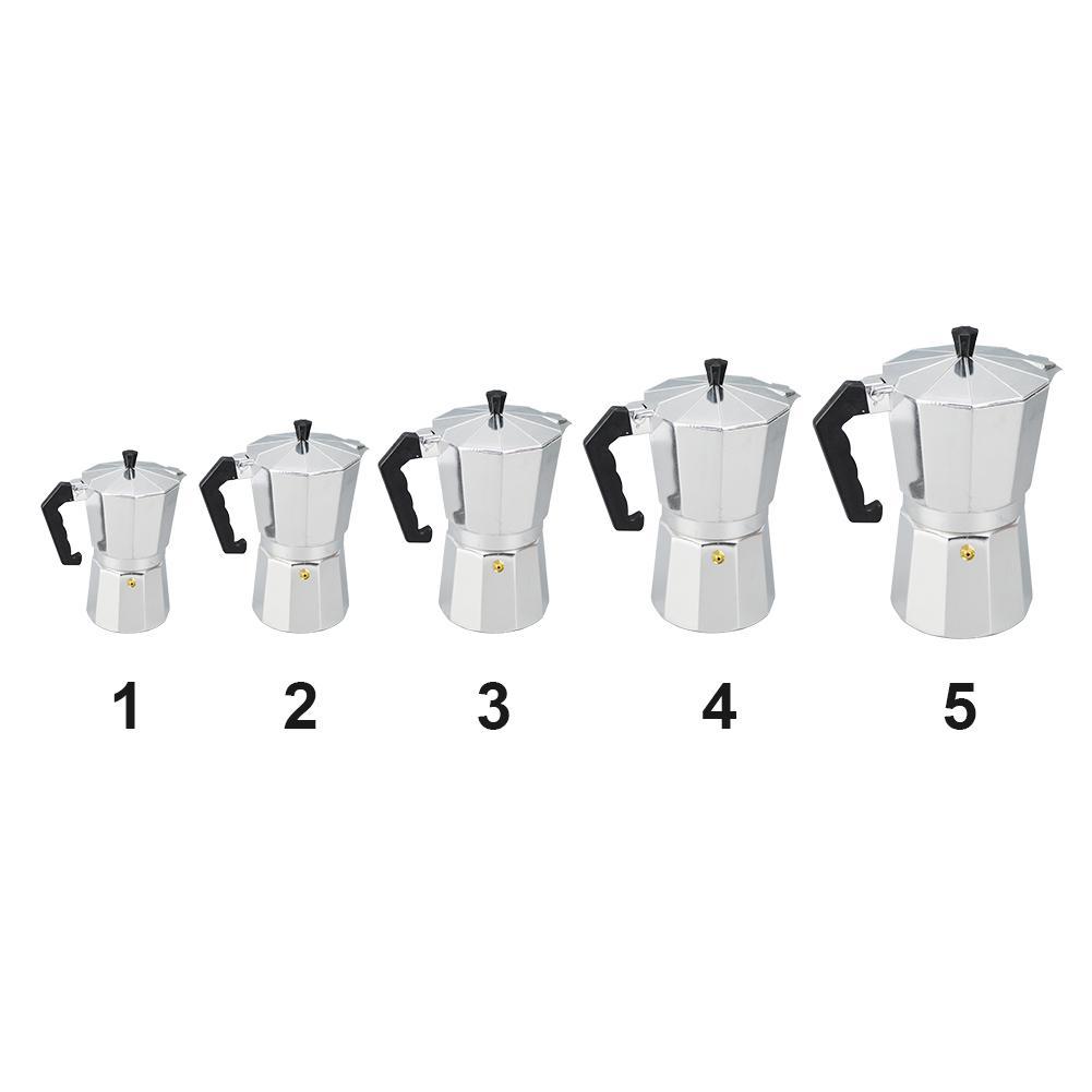 Ev Ofis Kahve Çay Araçları Alüminyum 1/3/6/9/12 Kupa Latte Mocha Cezve Soba Üst Maker Aracı Kolay Temizlik