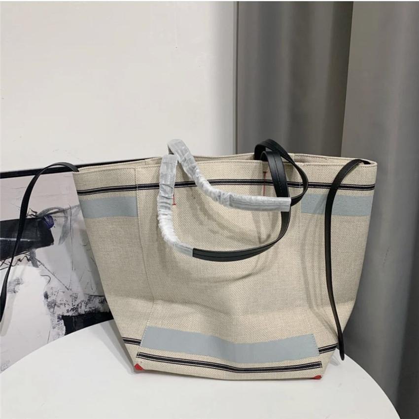 lüks tasarımcı çanta moda omuz çantaları Casual Bez Alışveriş çantası CFY2002226