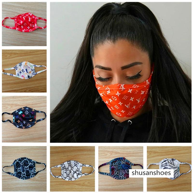 Máscara facial del polvo anti-ultravioleta boca de la prueba-mufla Hombres Mujeres Máscaras Moda protector lavable Ciclismo Máscara Color 11