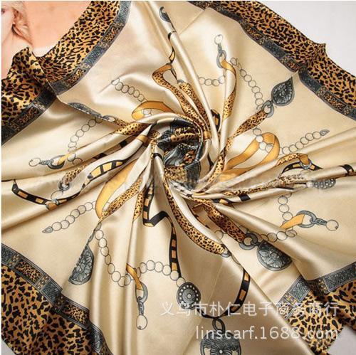 Mai Tong Avrupa tarzı leopar eşarplar Bayan renk ipek eşarplar büyük kare eşarplar kariyer 33356 zinciri