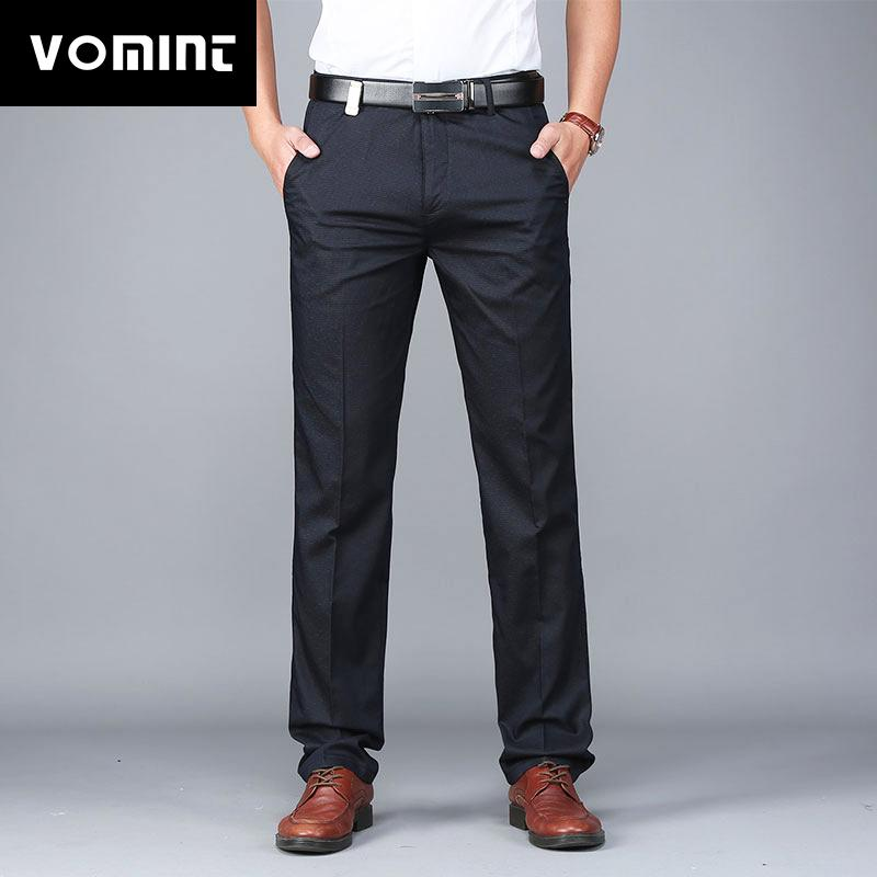 Vestito del lavoro Vomint 2019 Pantaloni nuovi Mens Solid semplice per il tempo libero pantaloni sottili pantaloni Tutto-fiammifero uomini del maschio MS7068