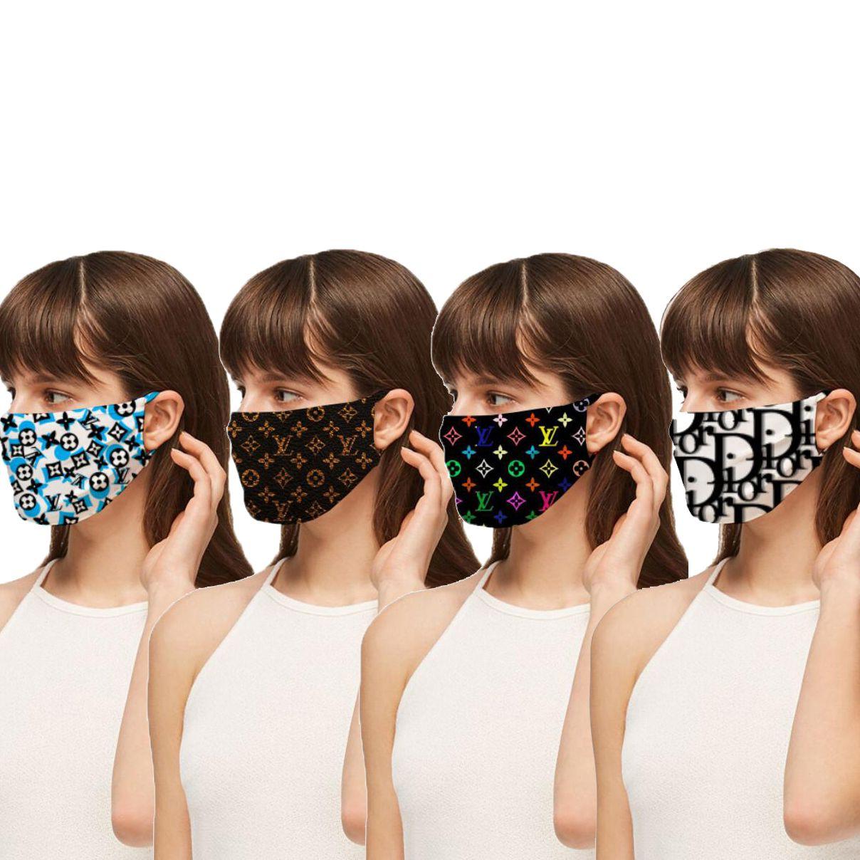Designer viso maschere di lusso maschera antipolvere lavabili respiratore Andare in bicicletta di sport della stampa di modo maschere DHL Fedex SME libera il trasporto