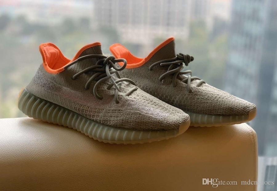 Оптовая Ешая Yecheil Yeezreel Мужчины Женщины Обувь Kanye West Clay Gid Glow Черный Статичные Дизайнер кроссовки