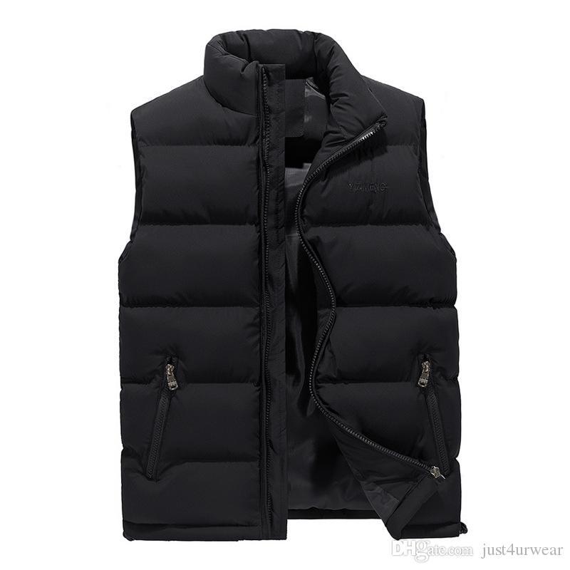 رجل الأزياء سترة معاطف ضئيلة سميكة الشتاء الدافئ قميص bodywarmer الشارع الشهير بلا أكمام معاطف جاكيتات زائد الحجم