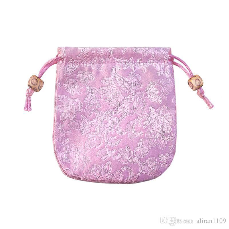 자수 보석 포장 보석 주머니 고품질 중국 스타일 실크 브로케이드 선물 가방 클래식 수제 파우치