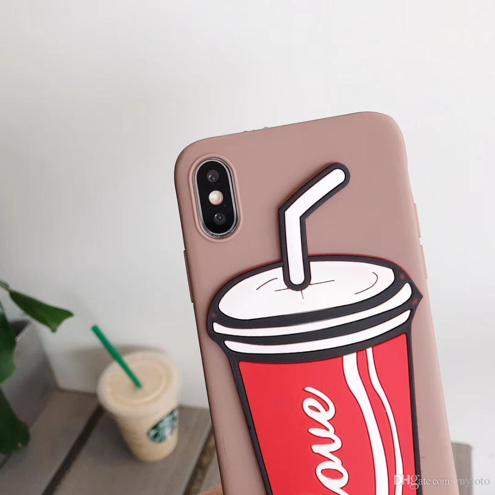 Mytoto Fashion 3D Stereo Cola Bottle Summer Cover Case For IPhone XS Max XR  6S 7 8 Plus 6 7 Silicon Drink Cup Phone Case Ipone X Capa Personalized