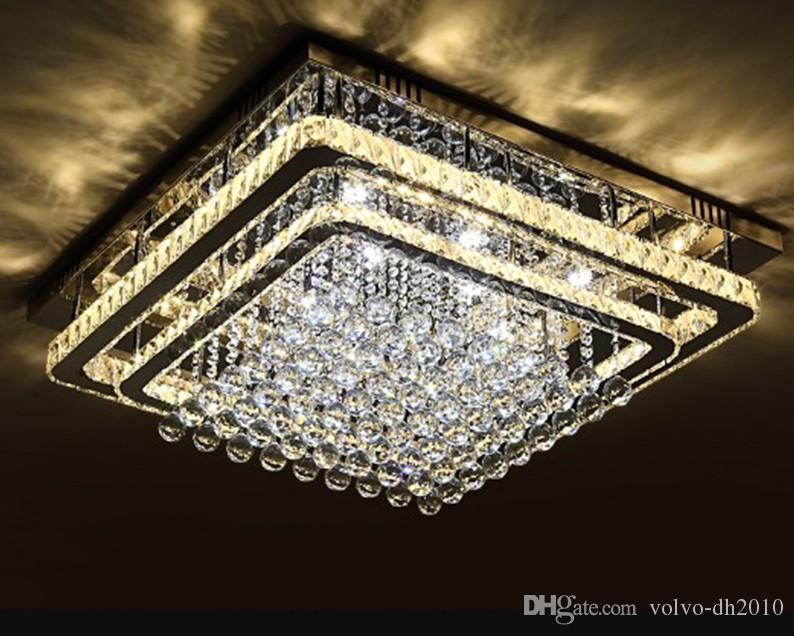 Vendita calda del soffitto di cristallo di modo LED Foyer lampada a soffitto Camera da letto moderna Ristorante Pendant Lighting Living Room Lampadari LLFA