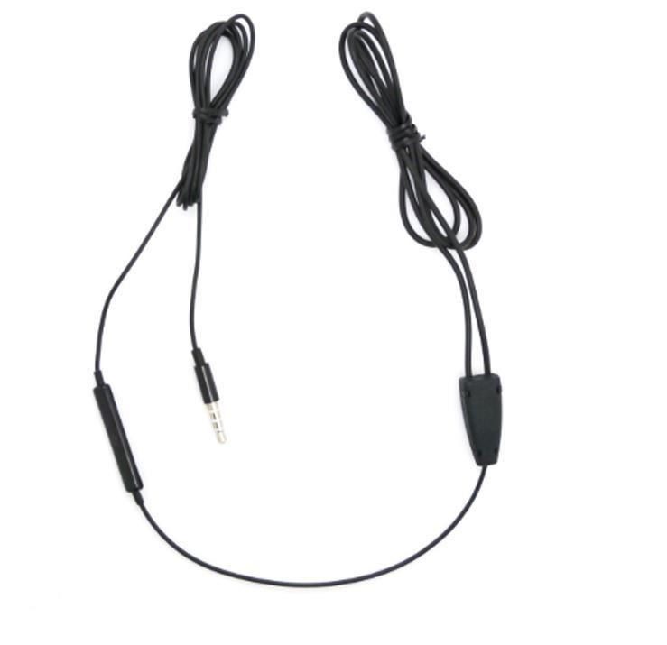 negro Inducción fácil auricular la voz de inducción de cable emisor de voz del auricular transmision transmisor de inducción del auricular para el auricular jack AUX