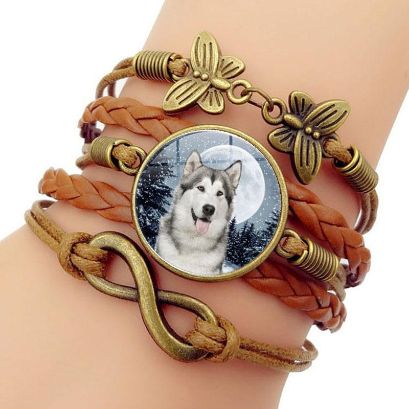 Snowfield Oviductus Strange Time Bracelet Butterfly 8 Word Group Combine Hand Ornaments
