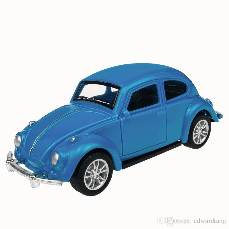 JH Mini Diecast Plastic Car Model Toy, Mercedes-Benz, VW Beetle, Jeep Wrangler, Motor Scooter, for Cake Ornament, Xmas Kid Birthday Gift,4-4