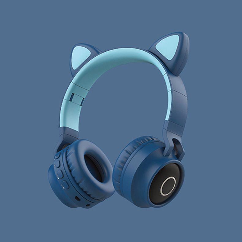 kutu ile dolu ışık Sevimli renkli Oyun Kablosuz kulaklıklarla kulaklık bluetooth Sıcak satış Kedi kulaklar Kablosuz Kulaklık Moda kadınlar