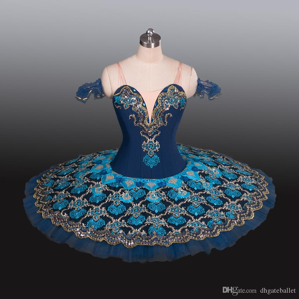 Щелкунчик конкуренция соревнований TUTU Классическая кукла блинчих кукол пачка костюма пачка костюма Темно-синий YAGP Professional Ballet TUTU для девушек и малышей