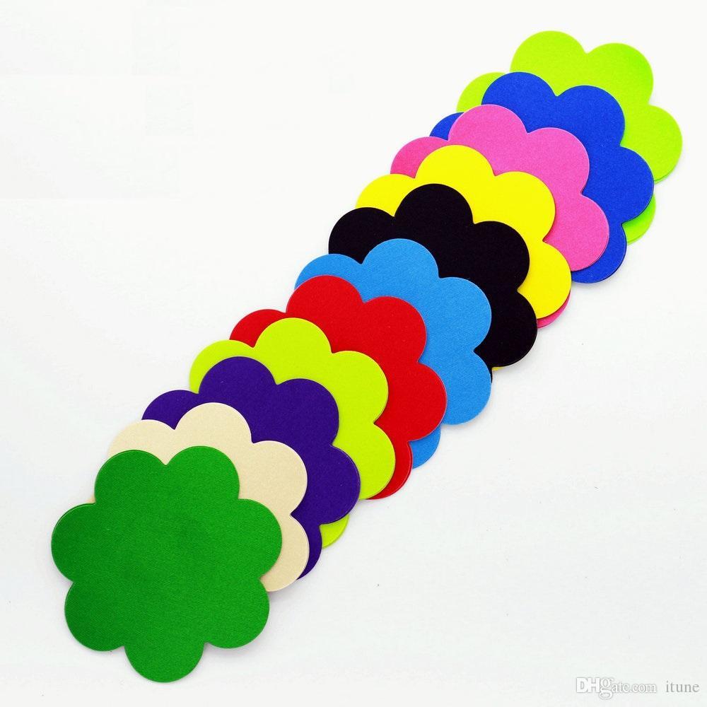 11 لونًا براعم الشكل حلمة الثدي لحماية السلامة والبيئة تغطي ملصق الثدي T- Tit tape 200pairs cover