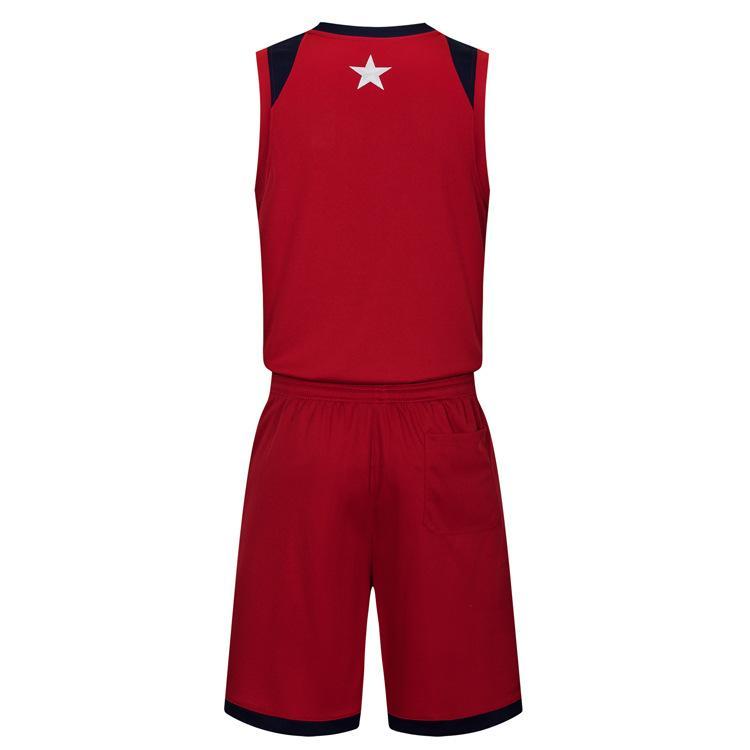 2019 Yeni Boş Basketbol formaları baskılı logosu Erkek boyut S-XXL ucuz fiyat hızlı kaliteli Koyu Kırmızı DR004AA1n nakliye