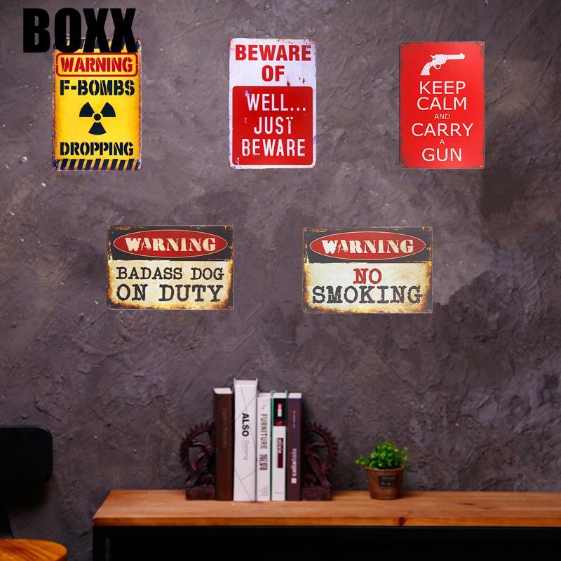Потертый шикарный металлический жестяной знак предупреждающий выстрел без нарушения границ плакат настенная табличка человек пещера гараж паб бар Домашний Декор стен 20 * 30см