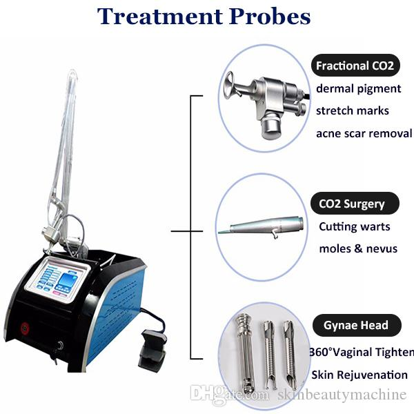2019 Fractional CO2 Laser Machine Laser Skin Resurfacing Rejuvenation Vaginal Tightening RF Metal Tube CO2 Laser Acne Scar Removal Equipment