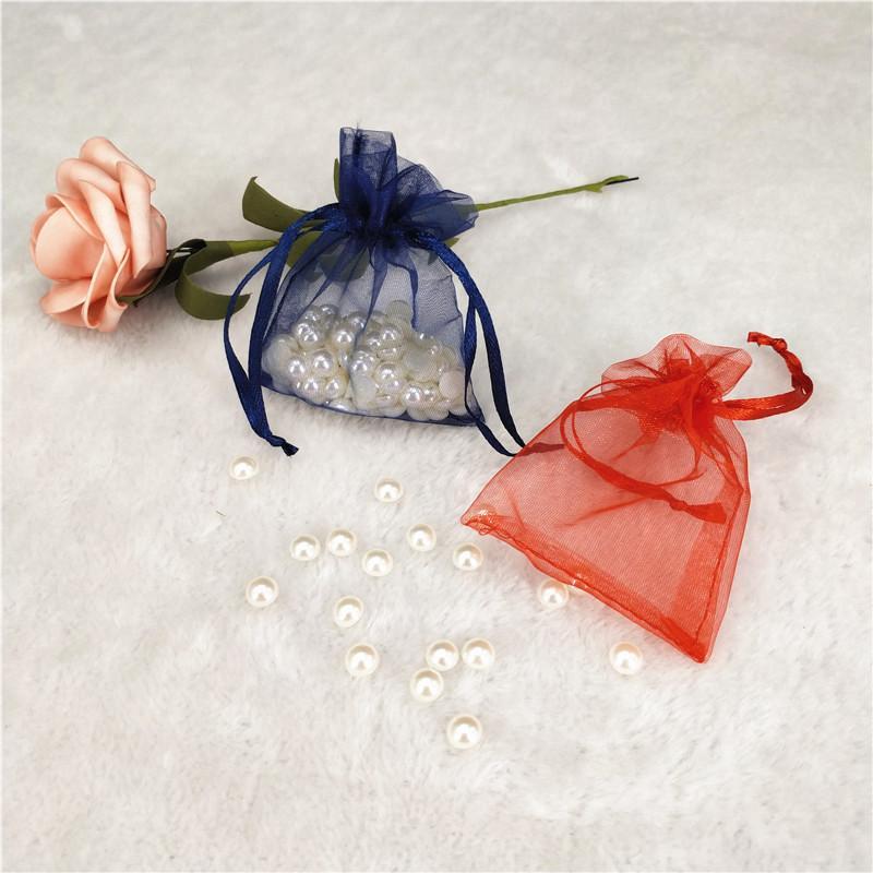 100pcs 10x15 17x23 30x40cm Multi Size Organza Borse Boutique gioielli sacchetti di immagazzinaggio festa di nozze con cordoncino sacchetto del regalo 5zSH312