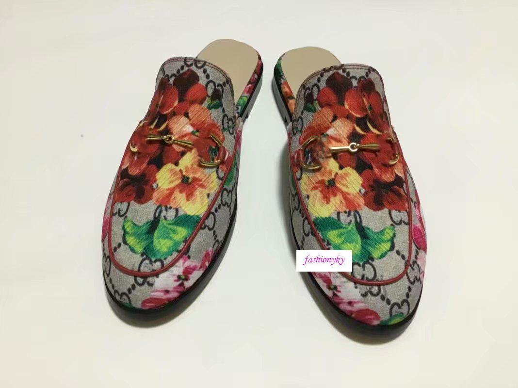 Le vendite Princetown Designer scivolose classica fibbia in metallo pistoni della spiaggia degli uomini e dei pistoni delle donne molli pigri shoesLovers scarpe