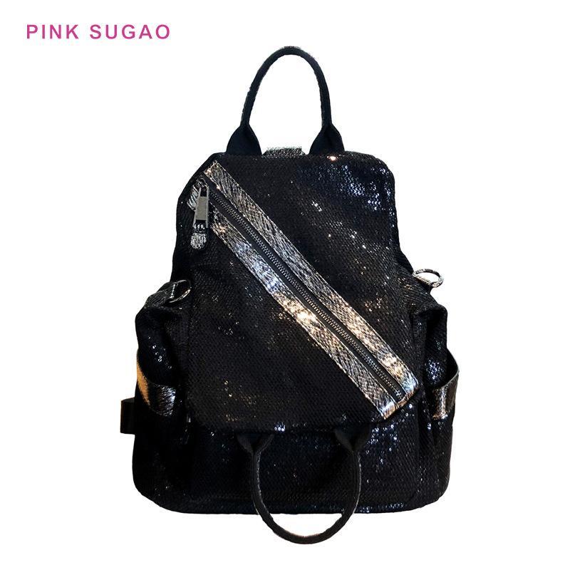 Rosa Sugao Designer Rucksäcke Frauen Umhängetasche 2020 Neue Mode Große Kapazität Mehrzweck Rucksack Wild Reisetasche Pailletten Rucksäcke