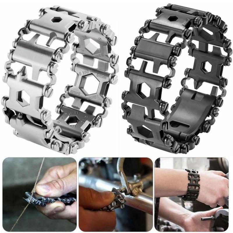 29 in1 Multi-Tool Stainless Steel Bracelet for Outdoor Camping Hiking Travel UK