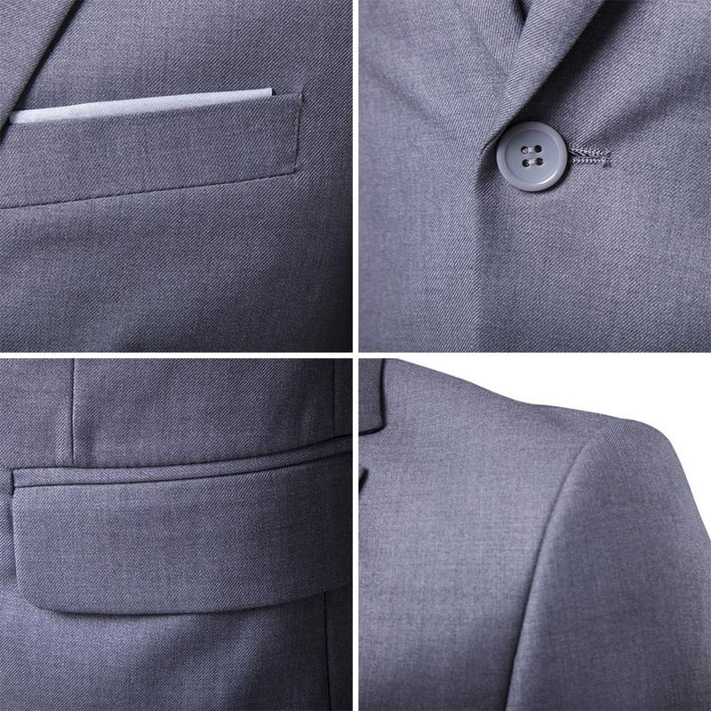 2020 Erkekler Moda İnce Erkekler İş Casual Sağdıç üç parçalı Takım Elbise Blazers Ceket Pantolon Pantolon Yelek Setleri Takımları