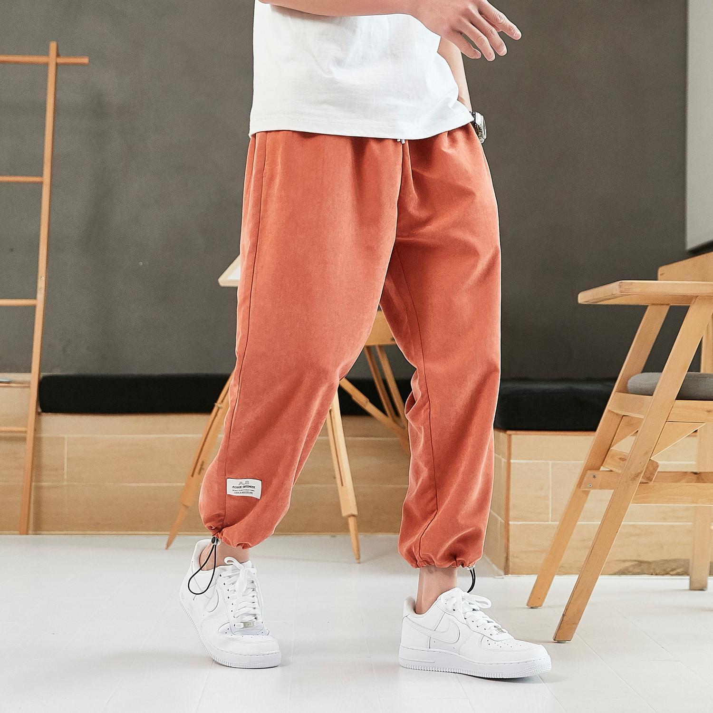 2020 Hip Hop del nuevo del verano Harem Hombres chándal pantalones hasta los tobillos masculino pantalones anchos ocasionales CX200628