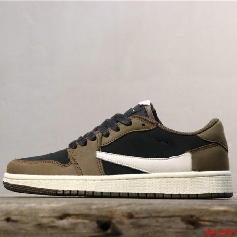 2019 New Travis Scott x 1 Low Limited Basketball Shoes 1s designers Sports Sneakers For Men Sports Sneakers 39-45