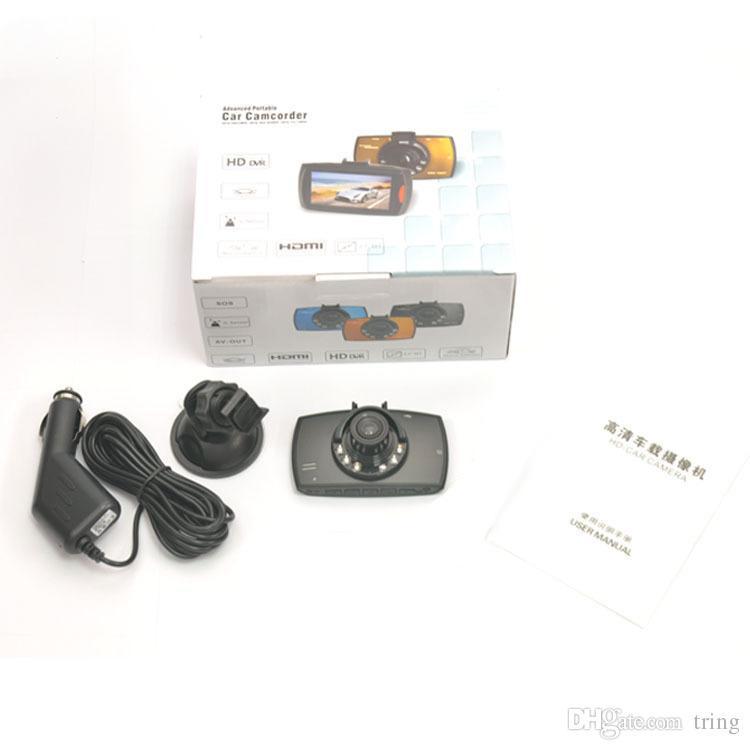 """G30 Araç Kamera 2.2"""" Full HD 1080P Araba DVR Video Kaydedici Dash Kamera 120 derece görüş açılı Hareket Algılama Gece Görüş G-Sensörü"""