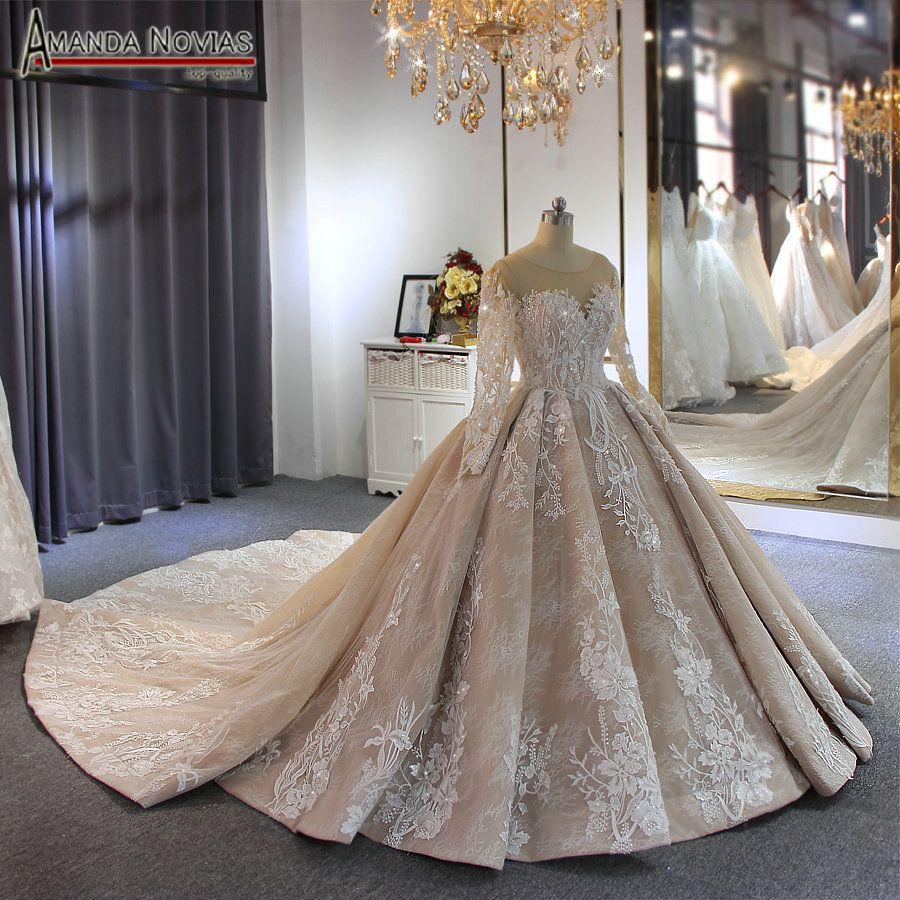 Compre Vestido De Novia De La Marca De Fábrica 2019 Amanda Novias Marca De Lujo De Alta Calidad Vestido Nupcial Por Encargo Color A 114567 Del