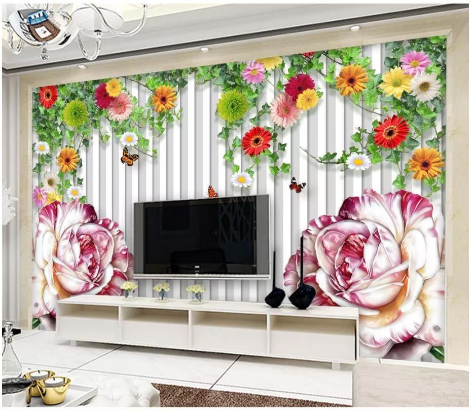 3D Color Peony Flowers 39 Wallpaper Decal Dercor Home Kids Nursery Mural Home