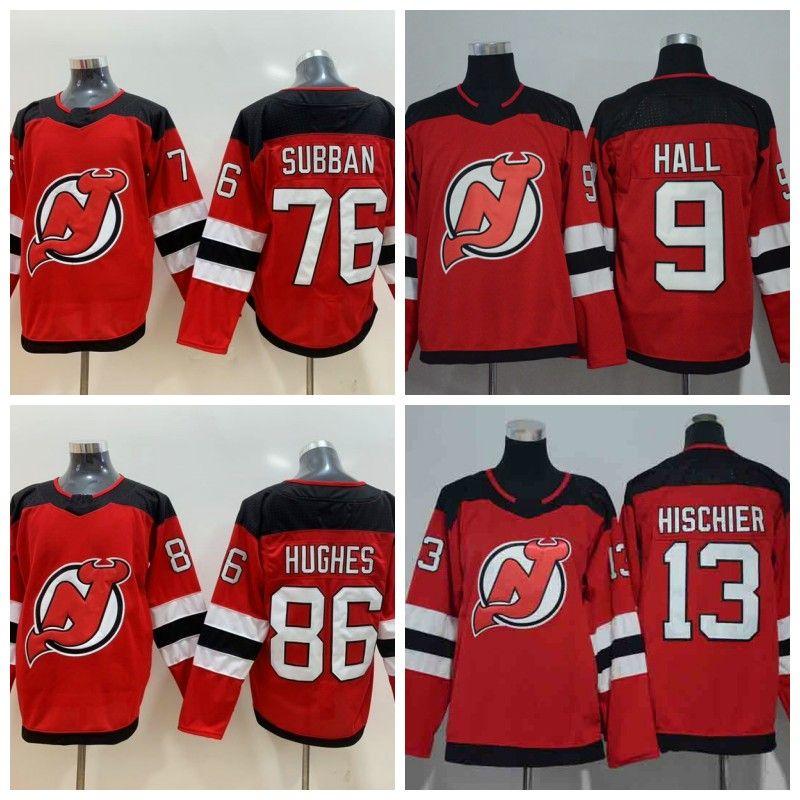 Hombres para mujer Jóvenes New Jersey Devils 13 Nico Hischier 86 Jack Hughes 9 Taylor Hall 76 P.K. Subban Hockey Jersey en stock