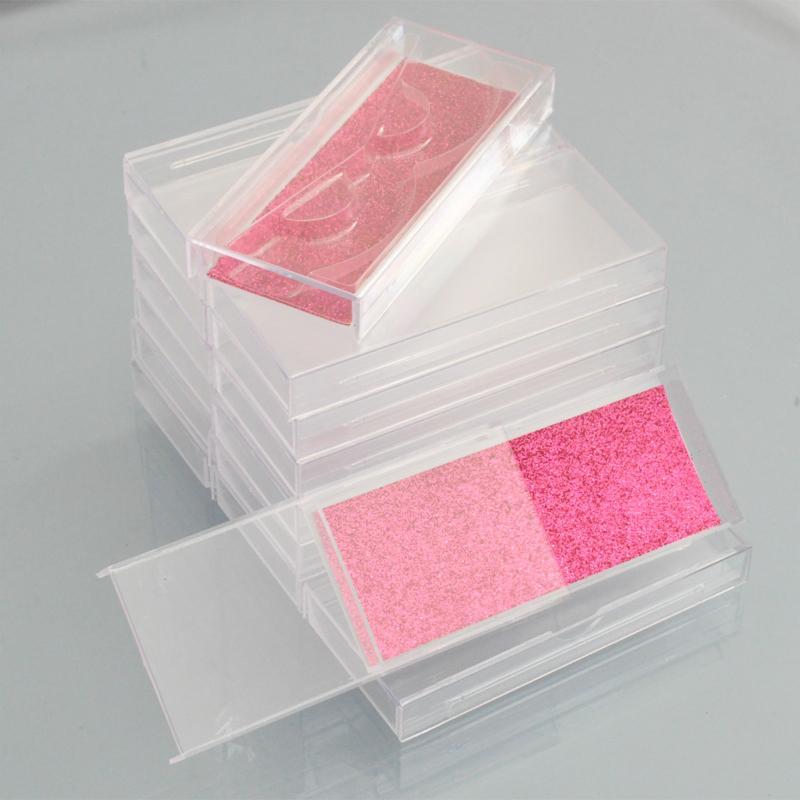 الجملة ماكياج التجميل البلاستيك رمش مربع التعبئة الرموش الصناعية مربع التعبئة وهمية الرموش 3d المنك جلدة التغليف فارغة جلدة مربع