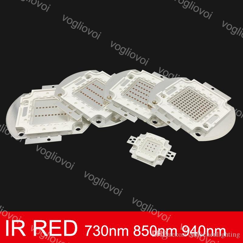 Beads ligeros IR RED 10W 20W 30W 50W 100W 730nm 850nm 940nm Accesorios de iluminación para el emitter Diodo COB Matrix integrado EUB