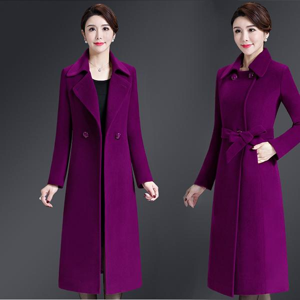 New Feminino casaco de lã Jacket Moda Thick Inverno Longo Overcoat Feminino quentes Único Breasted Fino Tipo de Inverno casacos de lã