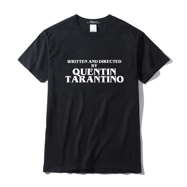 Mode écrit et réalisé par Tarantino hommes T-shirt Streetwear Hip Hop T-shirt Vêtements Femme Homme Coton T-shirt jaune d'amusement T