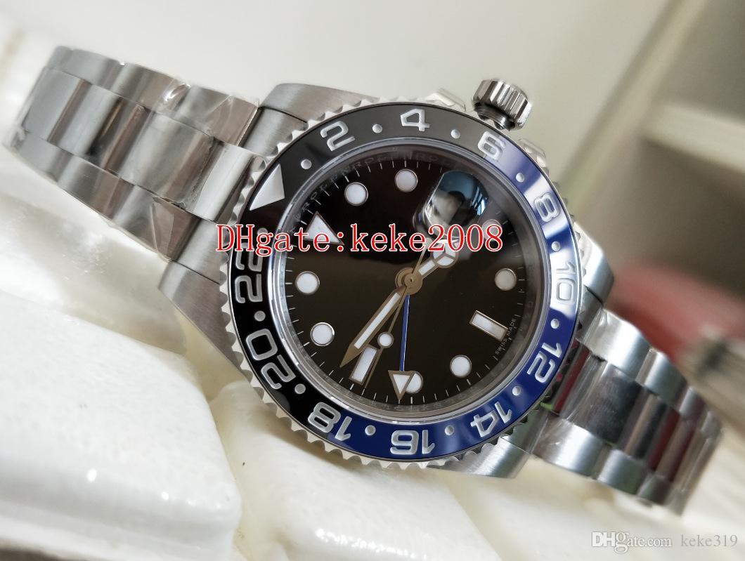 2 Farben Top-Armbanduhren BP Factory Batman GMT 116710 116710BLNR 40 mm blau leuchtende Keramik 2813 Bewegung automatische Herrenuhr Uhren