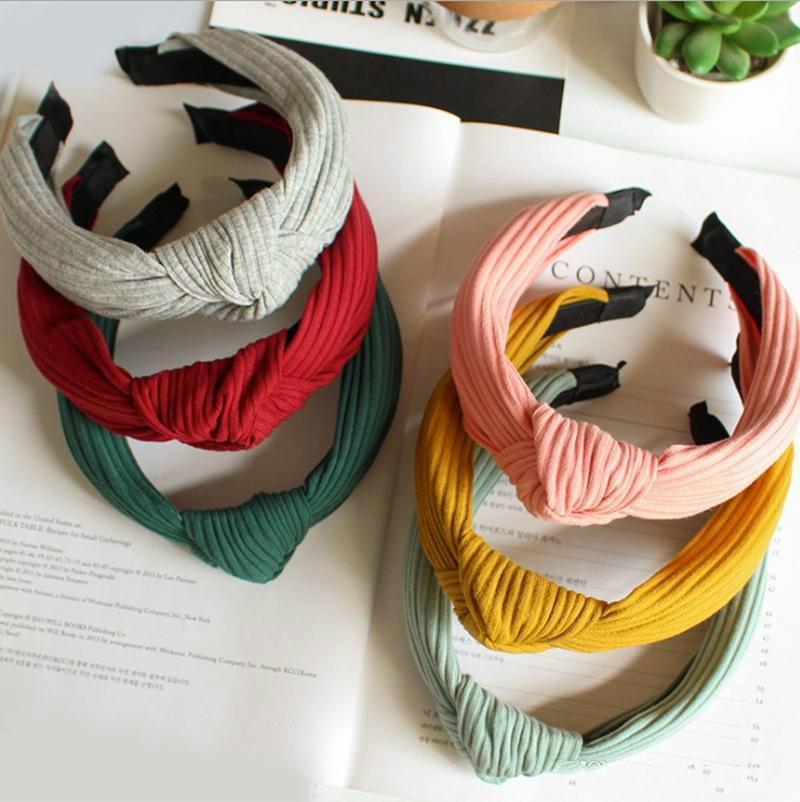 Bandas Cabelo Cabeça Elastic Bohemia Hairband Top Knot Turban atado cabeça de banda Vintage Hoop meninas florais mantilha 22 Designs DHW4082