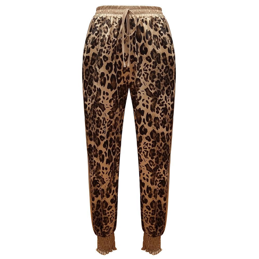 Female boutique leggings leopard print elastic pants tighter waist