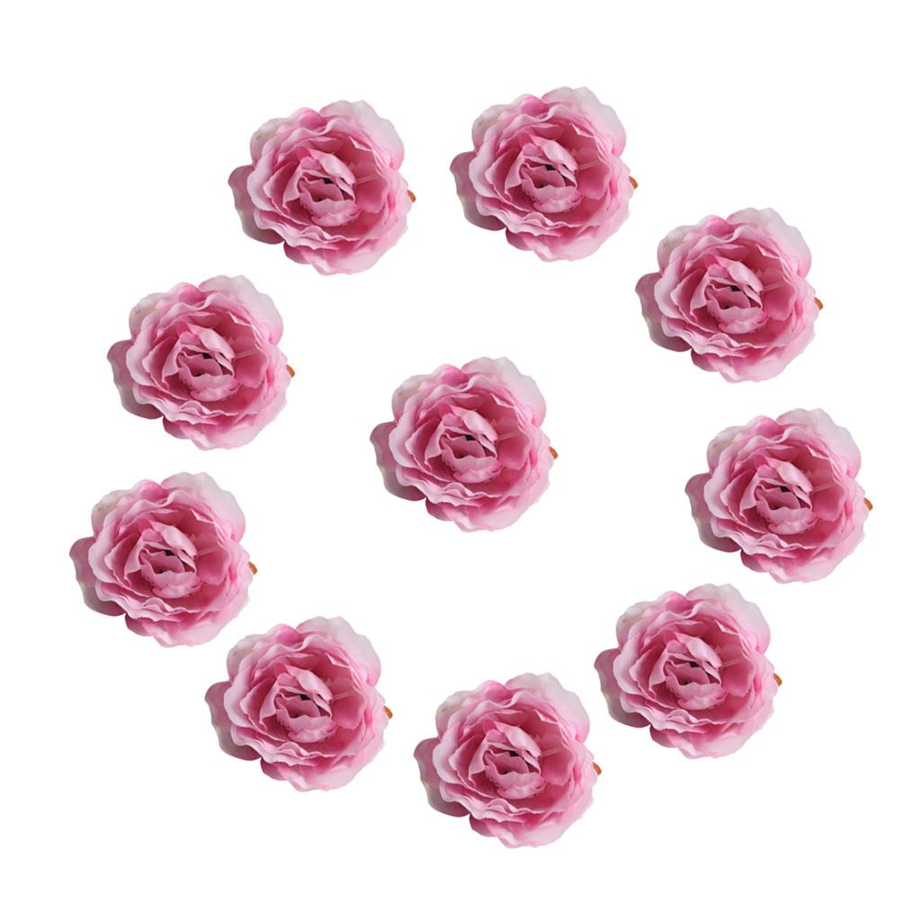 Лот 50шт ручной работы искусственного шелка мини цветок глав DIY Свадебный букет Украшение